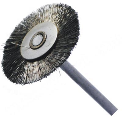 Mounted steel wire brush
