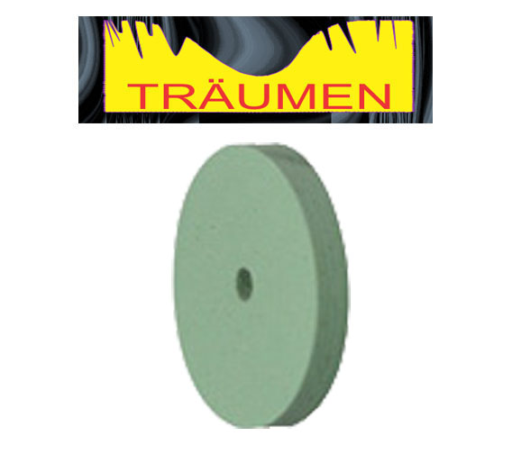 green silicone polisher, green silicone wheel, traumen, LGS22